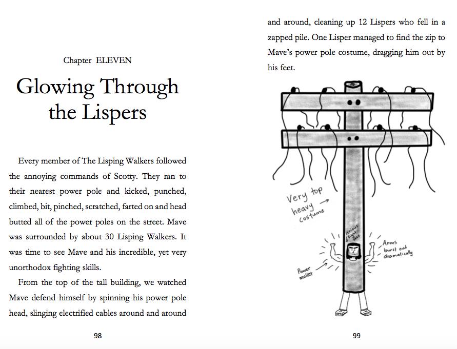 The Super Weirdos sample page 2